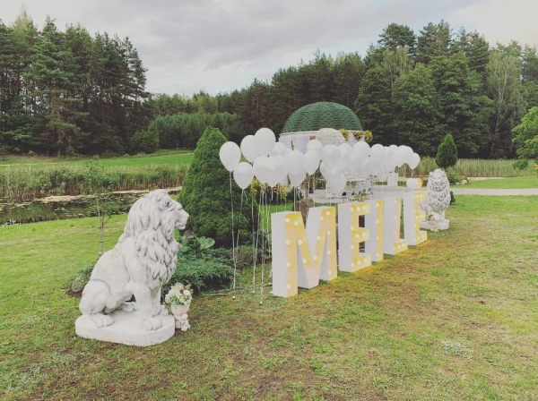 Vila Santa Barbara puosyba ir dekoravimas vestuvems